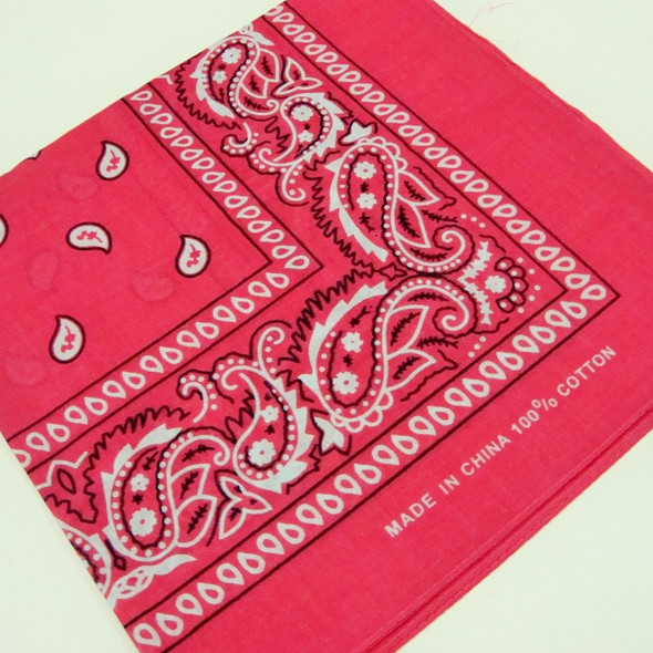 "20"" Square 100% Cotton Bandana Fusia Color .60 ea"