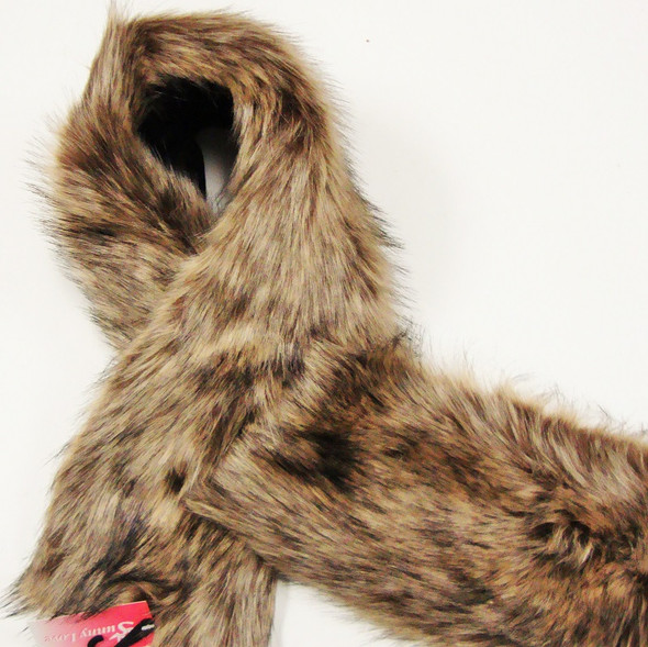 "SALE 40"" Faux Fur Fashion Neck Scarf 2 colors  12 per pk ONLY $ 4.50 ea"