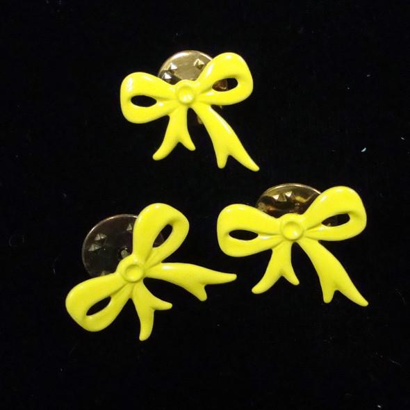 """CLOSEOUT 1/2"""" Yellow Ribbon Tac Pins 12 per pk @ .04 ea"""