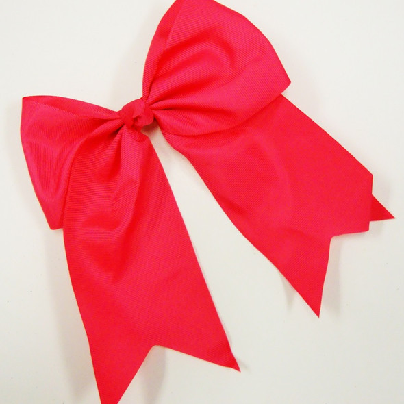 """6"""" X 8"""" All Hot Pink Color Gator Clip Bow w/ Tails .54 ea"""