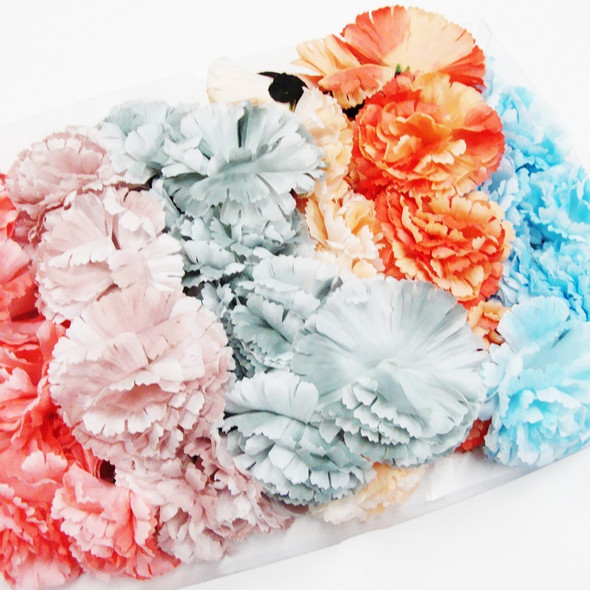 "4 Pc 3.5"" Flower Headband/Necklace Asst Colors .54 ea"