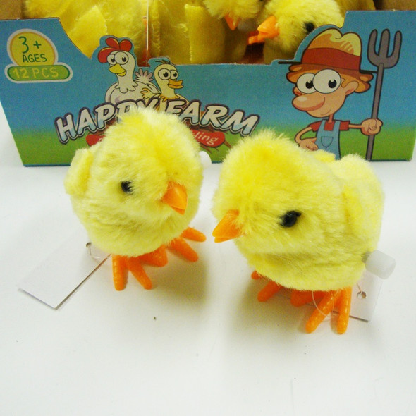 """3"""" Yellow Wind Up Easter Chic's 12 per display bx  .75 ea"""