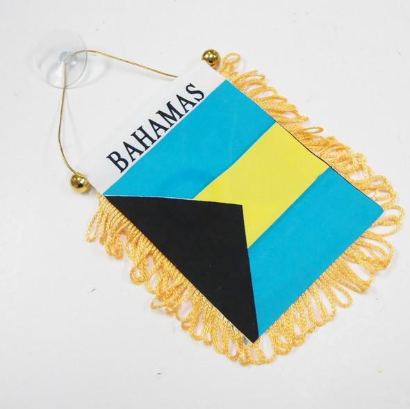 """4"""" X 6"""" Mini Banner Flag Bahamas w/ Suction Hook  .54 ea"""