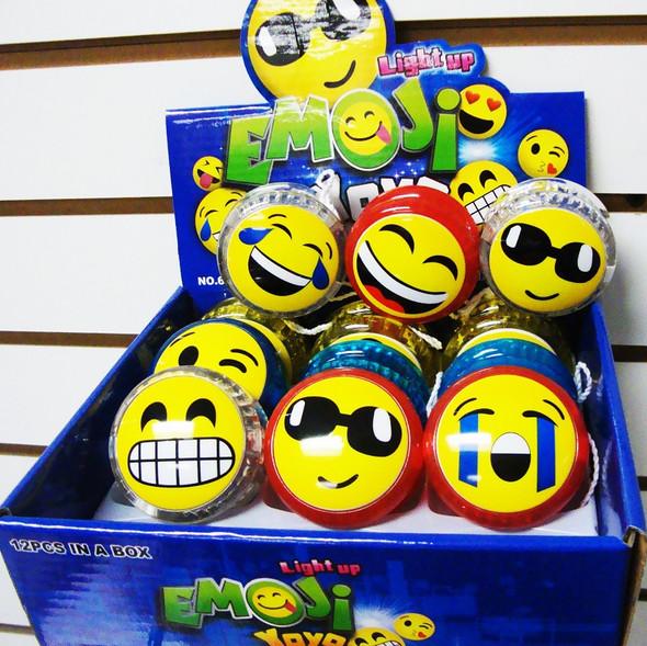 EMOJI Theme Light Up Yo Yo 12 pcs display box .56  ea