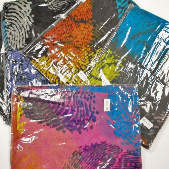 """Special 17"""" X 66"""" Fashion Print Print Scarf Asst Colors ONLY $1.08 each"""