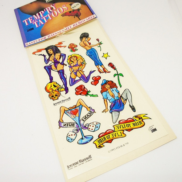 CLOSEOUT Jerome Russell Design Temp. Tattoo's  12 per pk at .25 each card