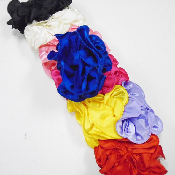 "SPECIAL  5"" Satin Fabric Jaw Clip Bows Asst Colors .58 each  NOT MANY LEFT"