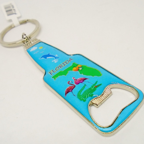 Metal Florida Picture Bottle Opener Keychains .56 each