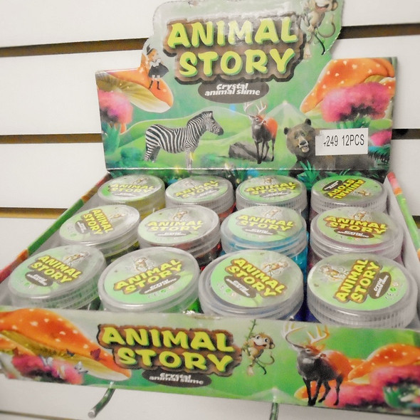"""3"""" X 2.5"""" Animal Story Crystal Slime 12 per display bx .60 each"""