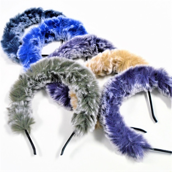 Multi Tone Fury Style Fashion Headbands Winter  Colors .60 ea