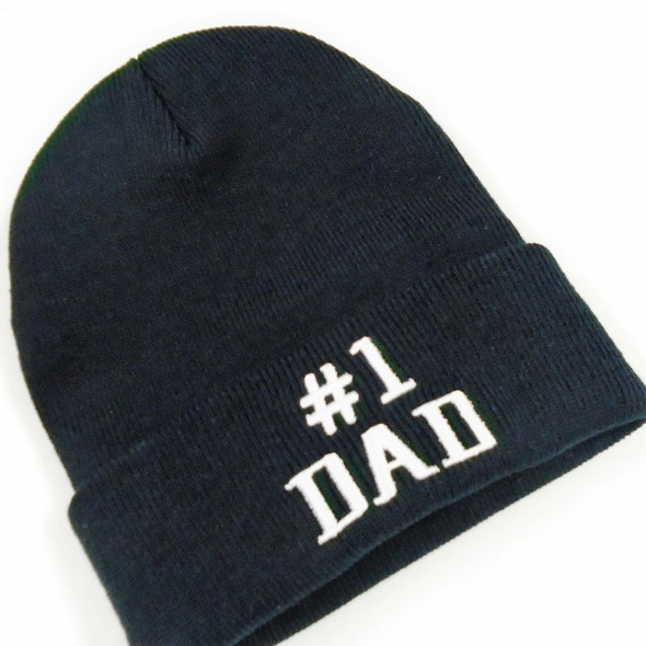 #1 DAD Knit Winter Caps All Black 12 per pk $ 3.00 each