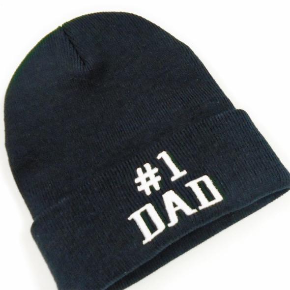 #1 DAD Knit Winter Caps All Black 12 per pk $ 3.00 each
