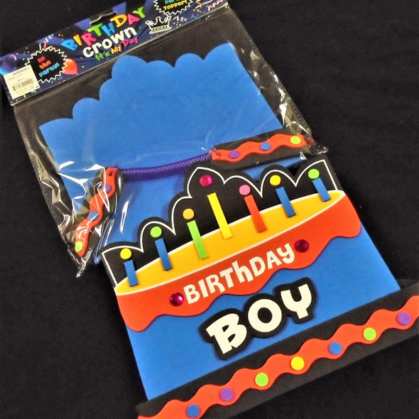 "7"" High Birthday Boy Party Hat  12 per pack .79 each"