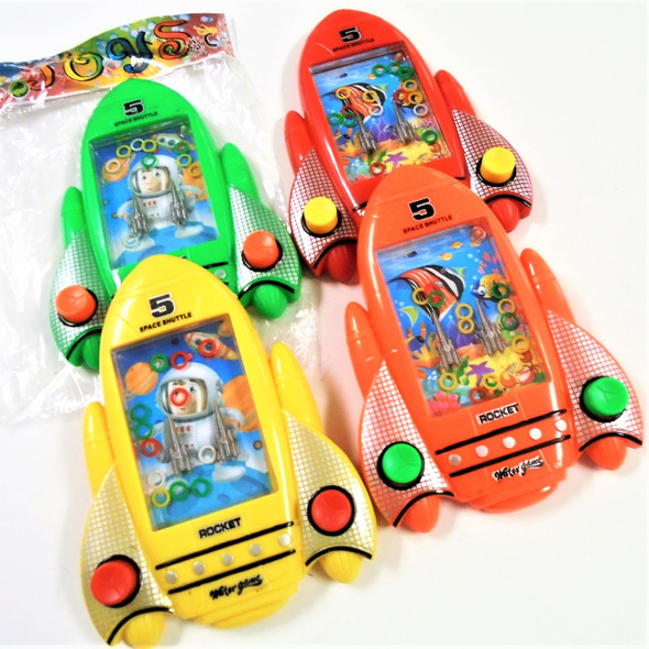"4"" X 5.5"" Space Rocket Water Games 12 per pk .65 each"