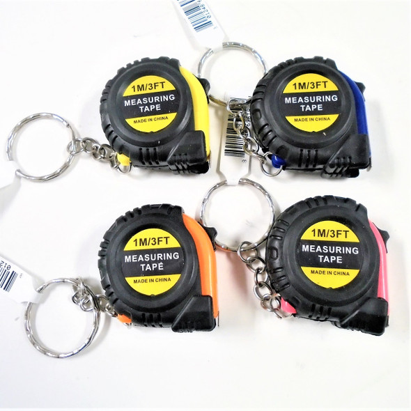 Great for Dad Rubber Grip 3 Ft Tape Measure Keychains . 62 ea