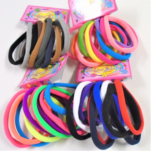 10 Pk Soft & Stretchy Mixed Colors Ponytailers .58 per set
