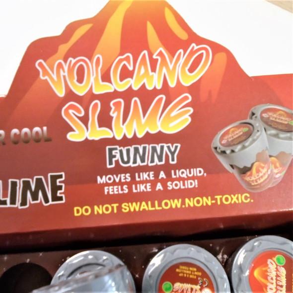 "NEW ! 2.5""  Two Tone Volcano Slime 12 per display bx .58 each"