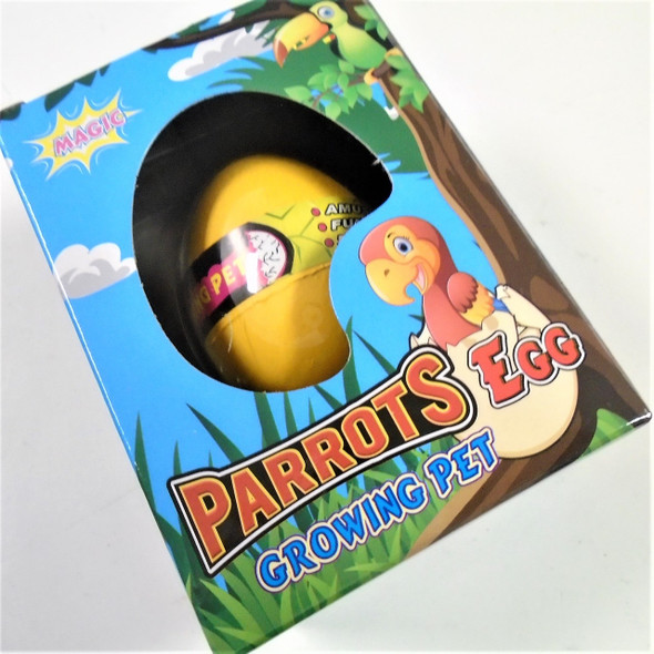 Hatch Your Own Parrot Egg 1-dz counter display box .79 ea