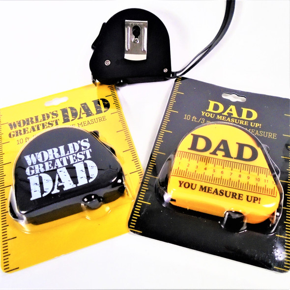 World's Greatest Dad 10 Ft Tape Measures 24 per display bx $ 1.95 each