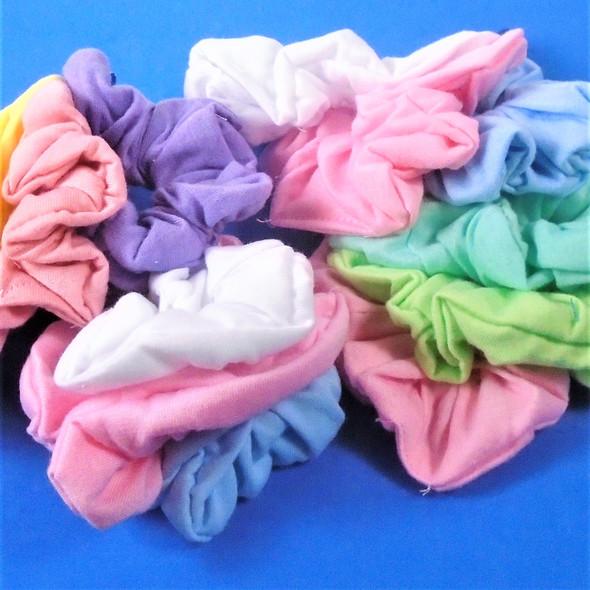 3 Pack Mixed Pastel  Color Cotton Hair Twisters .50 per set