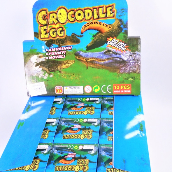 "Hatch""em Crocodile 1 dz unit ind. boxed in counter display .79 ea"