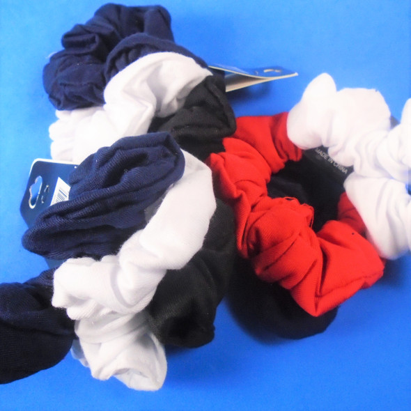 3 Pack Black,White,Navy,Red  Color Cotton Hair Twisters .50 per set