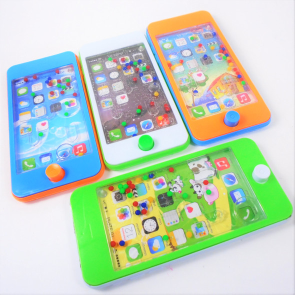 "5.5"" Cell Phone Theme Water Toy Game Asst Colors .65 each"