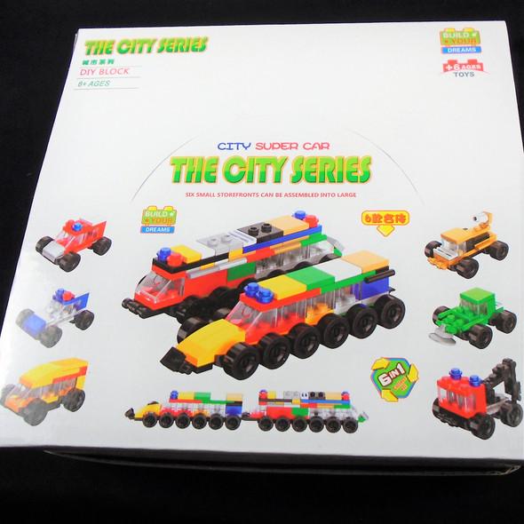 The City Series DIY Block Set 12 per display Mixed Styles .60 ea