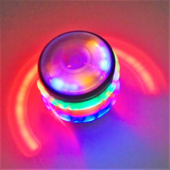 """2.5"""" X 3.5"""" Dragon Theme Spin Flashing Tops w/ Sound 12 per bx $1.25"""