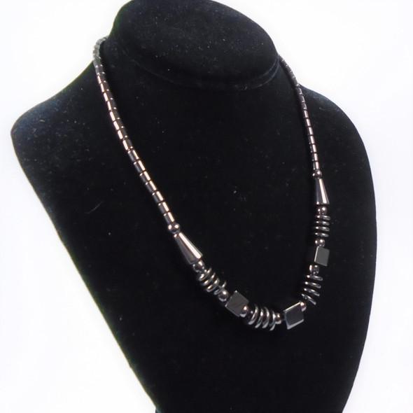 "18"" Hematite Necklace as shown12 per pk (01)  .75 each"
