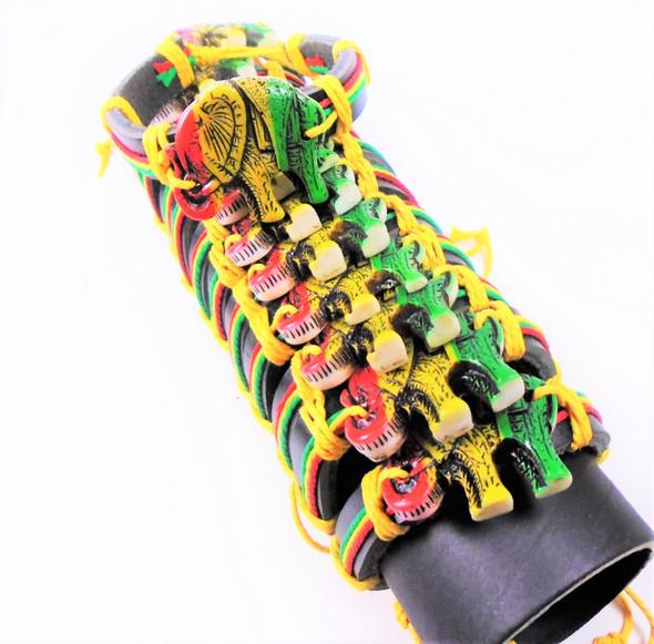 Teen Leather Bracelet w/ Ratsa Colors w/  Elephants   .54 ea