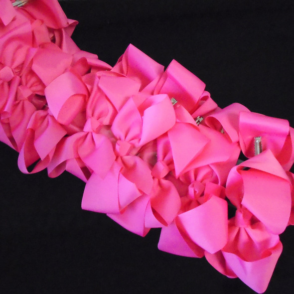 "SPECIAL 5"" Gator Clip Bows Pink  Color 24 per pk ONLY .32 each"