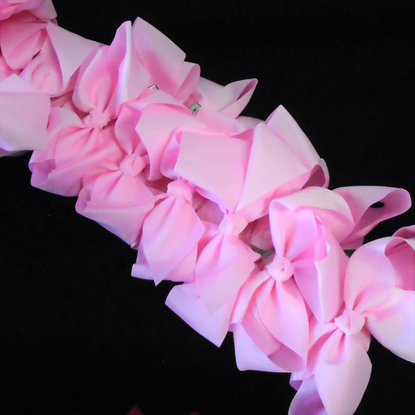 "SPECIAL 5"" Gator Clip Bows Lite Pink  Color 24 per pk ONLY .32 each"