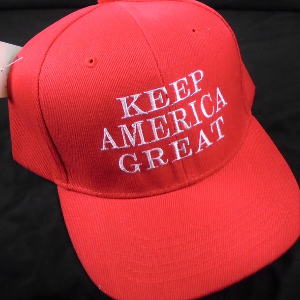 All Red Embroided Keep America Great Baseball Caps sold by pc $ 2.00 per hat
