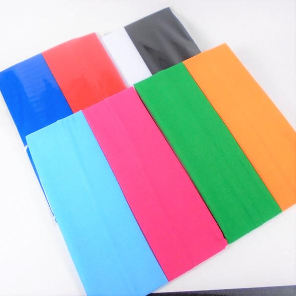 "2"" Asst Color As Shown Stretch Headbands 24 per pk   .28 each"