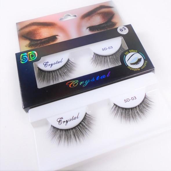 Trending 5D-3 Effect Fashion Eye Lashes  as shown (2426) .75 per pair