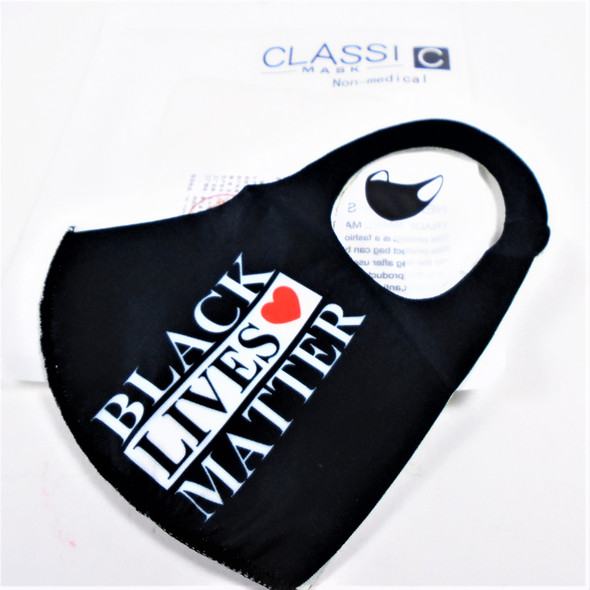 Black Lives Matter  Protective Reusable Face Mask Black & White  $ .50 each LAST DOZEN