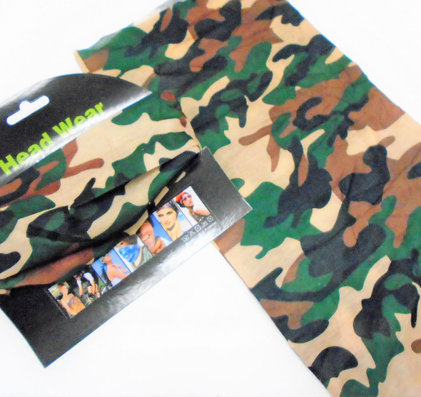 Multifunctional Scarf/Headwear /Face MASK Regular Camo Print    .65  ea
