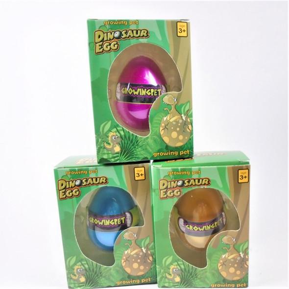 Dinosaur Hatch Egg Growing Pet 12 per display bx .75 each