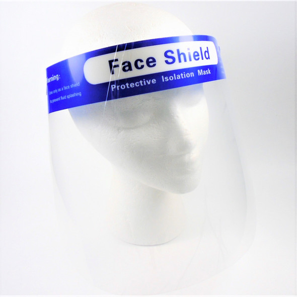 NEW LOWER PRICE  Protective Face Shields 10 per pack bulk   $ .45 each