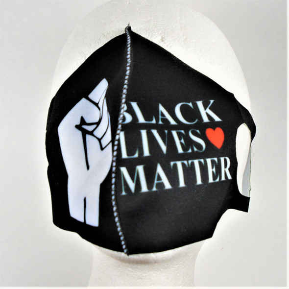 Black Lives Matter  Reusable Face Mask Black & White 12 per pk   $ .50 ea LAST DOZEN