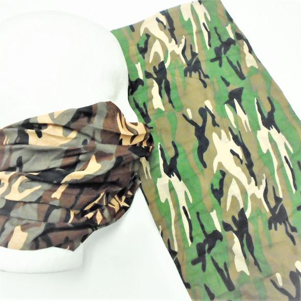 Multifunctional Scarf/Headwear /Face MASK Regular Camo Print (74452)   .75  ea