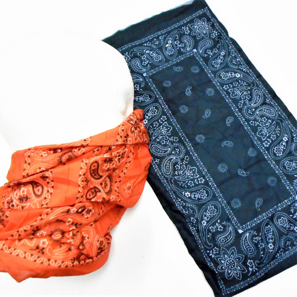 Carded Multifunctional Scarf/Headwear/ Mask  Bandana Print 4 colors   .60  each