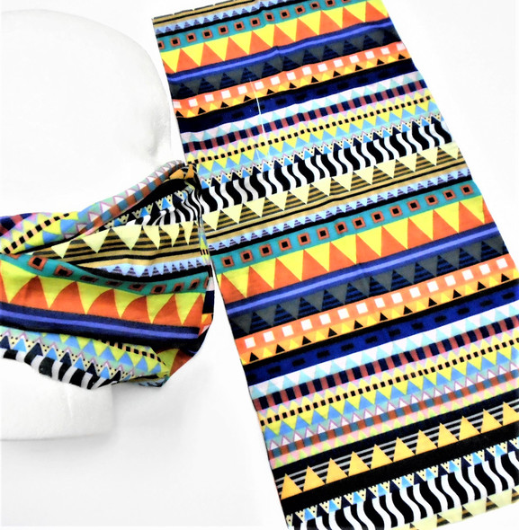 Multifunction Face Mask Scarf Multi Print   (60190A) 12 per pk .75 each