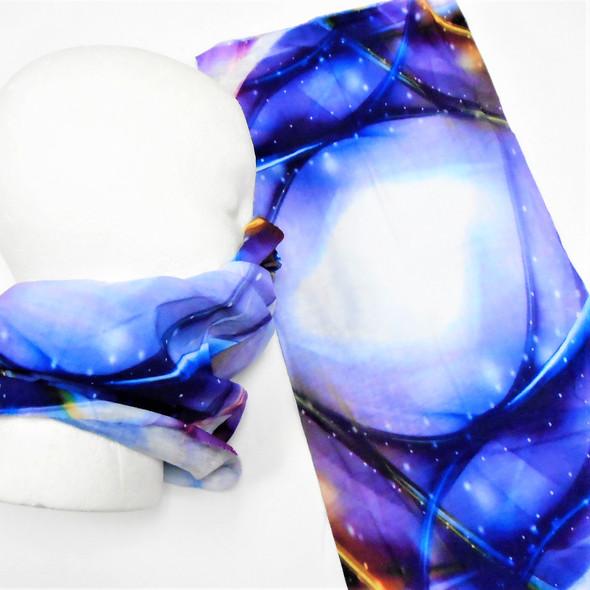 Multifunction Face Mask Scarf Galaxy  Blue/Purple  (60192B)  12 per pk .75 each