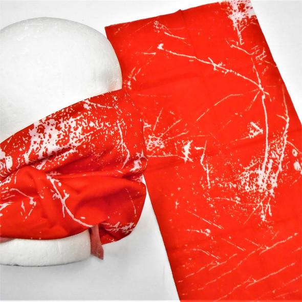 Multifunction Face Mask Scarf Red Splash Effect (60192D)  12 per pk .75 each