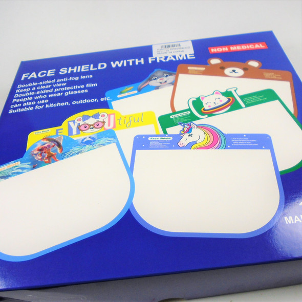 Kid's Fun Style Face Shields w/ Glasses (5A)  12 sets per bx  $1.00 each set up