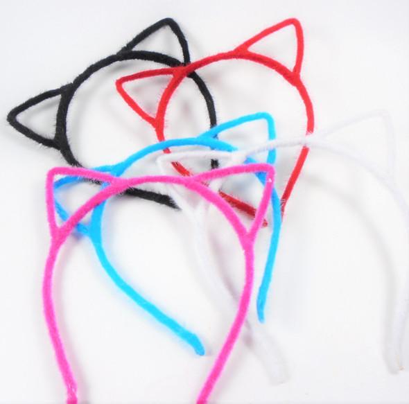 Trendy  Cat Ear Headbands Faux Fur Asst Colors  .56 each