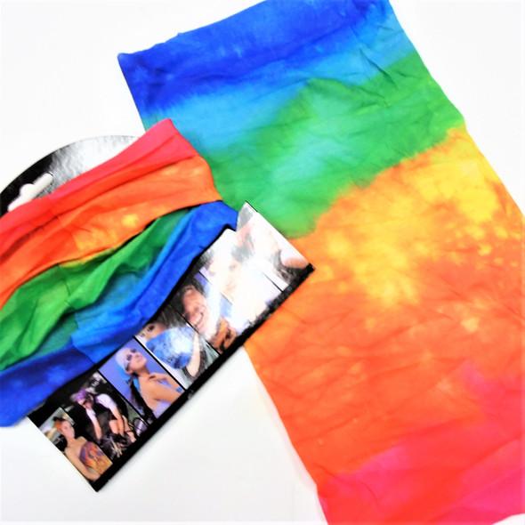 Carded Multifunctional Scarf/Headwear /Face MASK Tye Dye Color   .66  ea