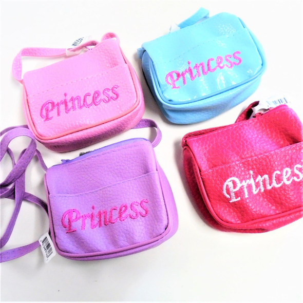 Embroided Princess Side Purse w/ L0ng Strap Asst Color .67  each
